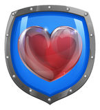 Heart shield concept Stock Image