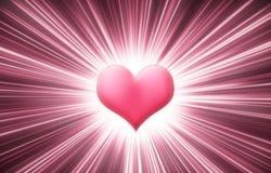 Heart shine. Illustration for st. Valentine's day Stock Photo