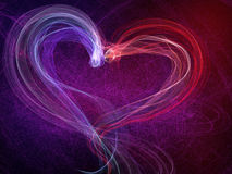 Heart shine lovely background. Fire and ice passion, saint valentine day Royalty Free Stock Image