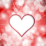 Heart on shined background Stock Images