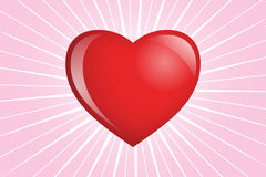 Heart shinnng on Pink. Power of Love - Illustration of a heart shining pink aura - EPS vector available Royalty Free Stock Photography