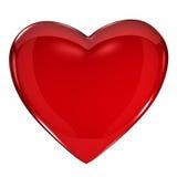 Heart Shiny. Shiny red heart isolated on white background Stock Photography