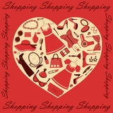 Heart shopping Royalty Free Stock Images