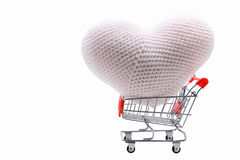 Heart shopping cart Royalty Free Stock Image