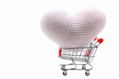 Heart shopping cart Royalty Free Stock Image