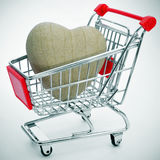 Heart in a shopping cart Royalty Free Stock Photo