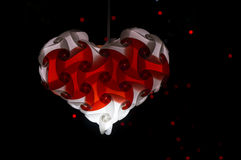 Heart shpae hanging lamp Stock Images