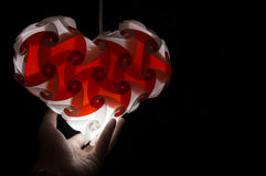 Heart shpae hanging lamp Stock Photo