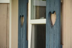 Heart Shutters. Shutters with a heart shape cut outs Royalty Free Stock Photo