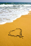 Heart sign on beach Royalty Free Stock Photography