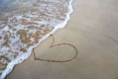 Heart sign on beach Royalty Free Stock Images