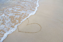 Heart sign on beach. Element of design. Stock Photography