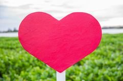Heart sign on blur green Royalty Free Stock Photos