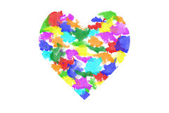 Heart sign of colorful . Royalty Free Stock Photography