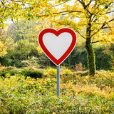 Heart sign in the forest Royalty Free Stock Images