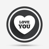 Heart sign icon. Love you symbol. Royalty Free Stock Photo