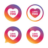 Heart sign icon. Love you symbol. Royalty Free Stock Images