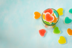Heart sign jelly Stock Photography
