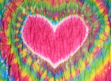Heart sign tie dyed pattern background. Royalty Free Stock Photos