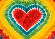 Heart sign tie dyed pattern background. Royalty Free Stock Images