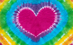 Heart sign tie dyed pattern background. Royalty Free Stock Photography