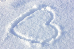 Heart signed in the snow Stock Image