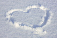 Heart signed in the snow Stock Images