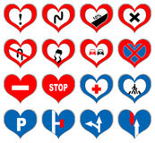Heart signs Royalty Free Stock Images