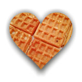 Heart silhouette filled with waffles Royalty Free Stock Photography