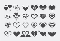Heart Silhouettes Royalty Free Stock Image