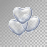 Heart Silver balloon on background. Stock Photography