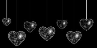 Heart silver effect Stock Photo