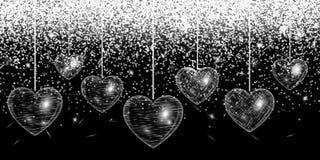 Heart silver glitter Royalty Free Stock Photos