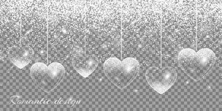 Heart silver highlights Royalty Free Stock Photo