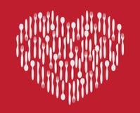 Heart silverware Royalty Free Stock Photo
