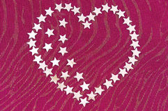 Heart from silvery asterisks Stock Images