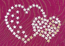 Heart from silvery asterisks Stock Photography