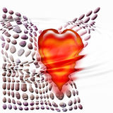 Heart sinking in water. Red heart sinking in water graphic Stock Images