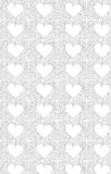 Heart sketch pattern Royalty Free Stock Photography