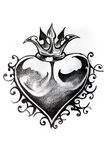 Heart sketch of tattoo Stock Photo