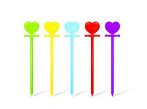Heart skewers Royalty Free Stock Images
