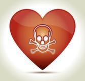00217-heart-skull ilustracja wektor