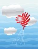 Heart in sky Stock Photo