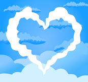 Heart in the sky Royalty Free Stock Photography