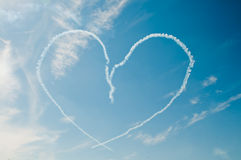 Heart in sky. On air show Royalty Free Stock Images