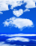 Heart on the sky Royalty Free Stock Images