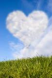 Heart on sky stock photography