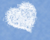 Heart in the sky. Royalty Free Stock Images