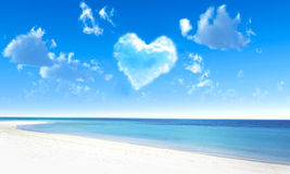 Heart in sky. Stock Photos
