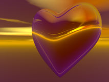 Heart in the sky abstract background Stock Images
